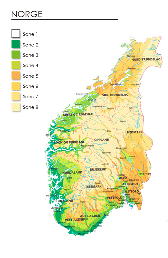 Klimasonekart Norge
